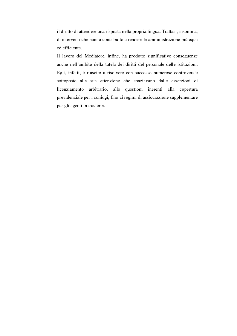 Anteprima della tesi: Il Mediatore Europeo, Pagina 15
