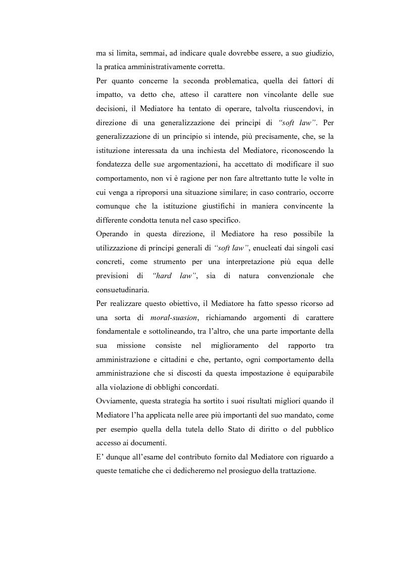 Anteprima della tesi: Il Mediatore Europeo, Pagina 5