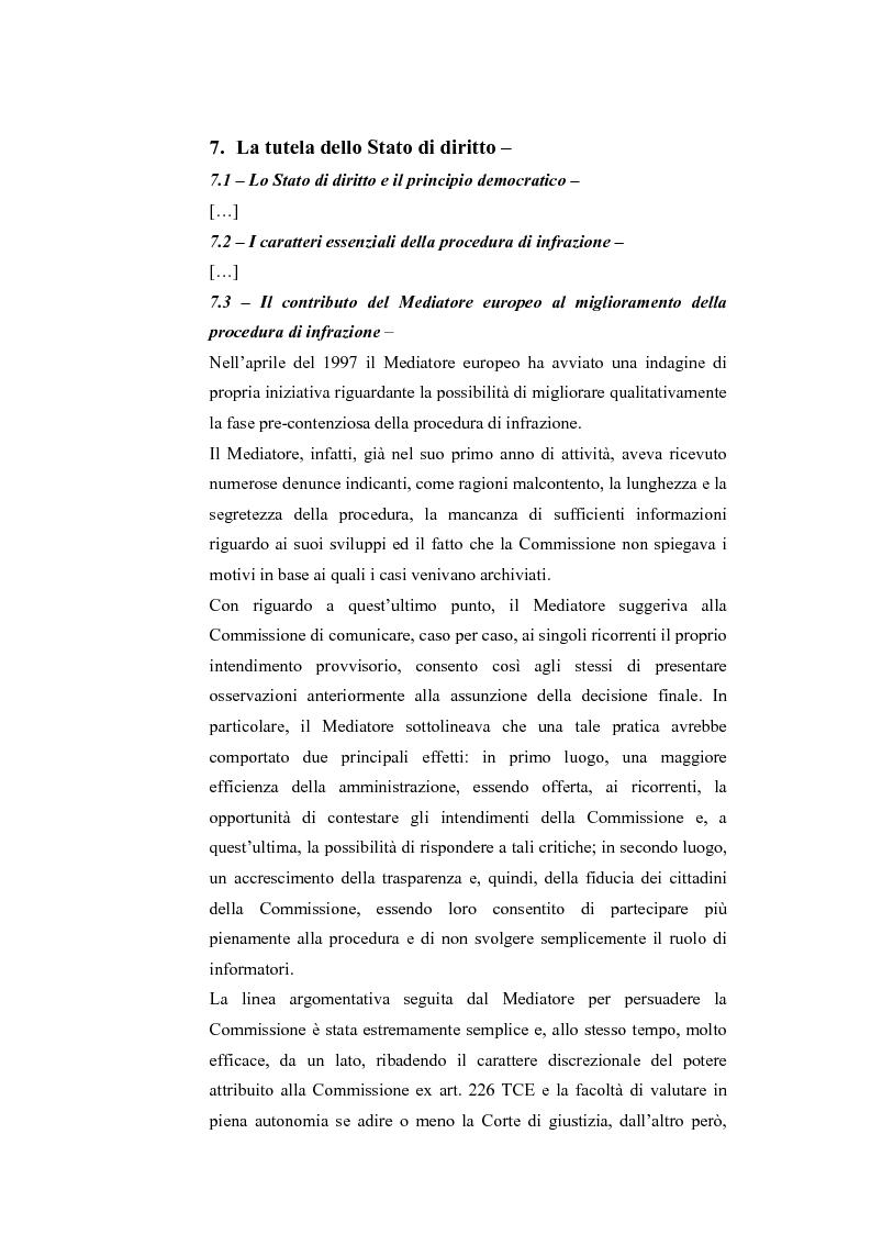 Anteprima della tesi: Il Mediatore Europeo, Pagina 6