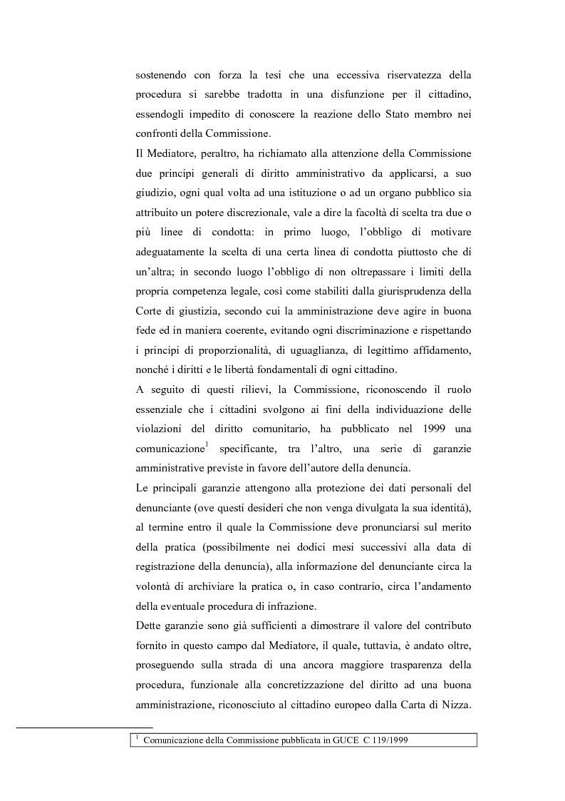 Anteprima della tesi: Il Mediatore Europeo, Pagina 7