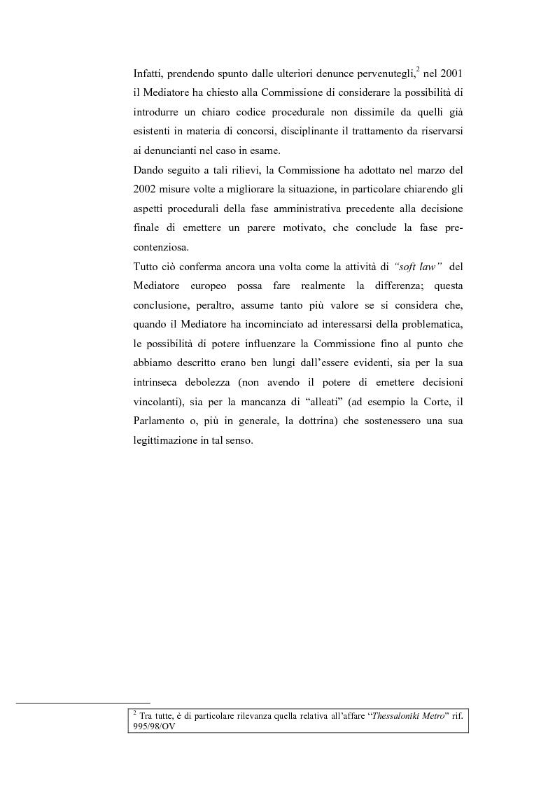 Anteprima della tesi: Il Mediatore Europeo, Pagina 8