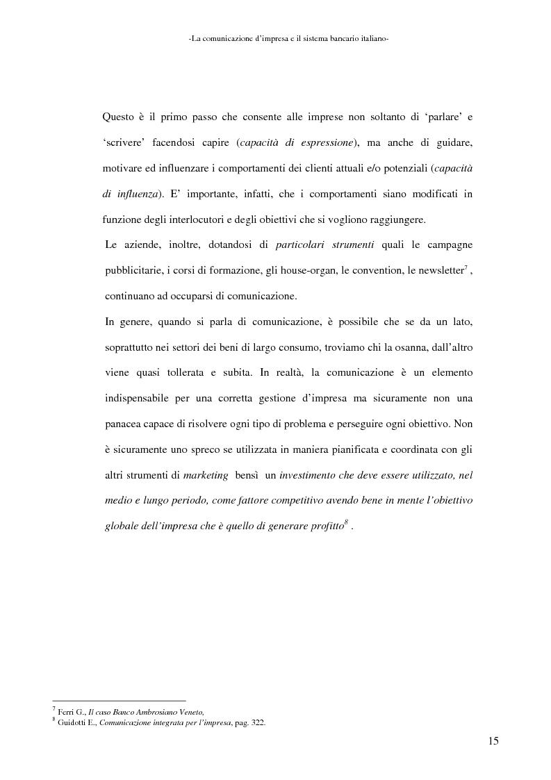 Anteprima della tesi: La banca e la comunicazione pubblicitaria. Caso aziendale: Monte dei Paschi di Siena S.p.a., Pagina 11