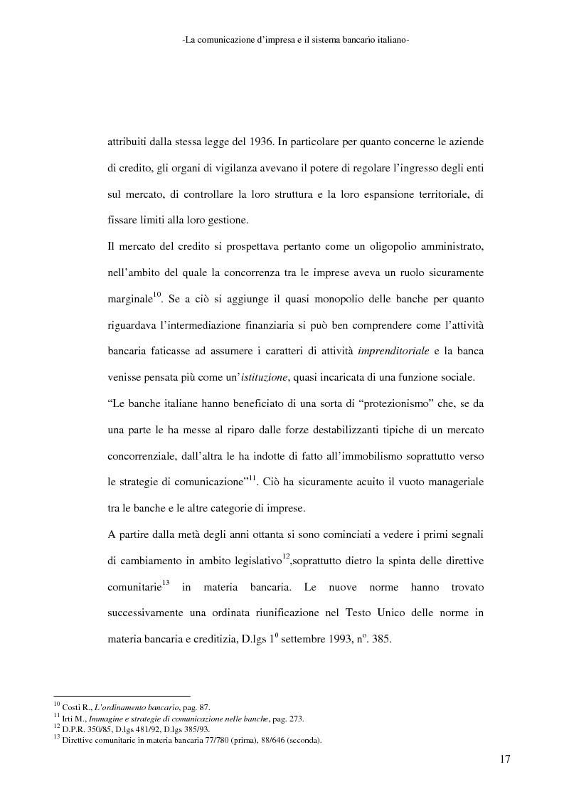 Anteprima della tesi: La banca e la comunicazione pubblicitaria. Caso aziendale: Monte dei Paschi di Siena S.p.a., Pagina 13