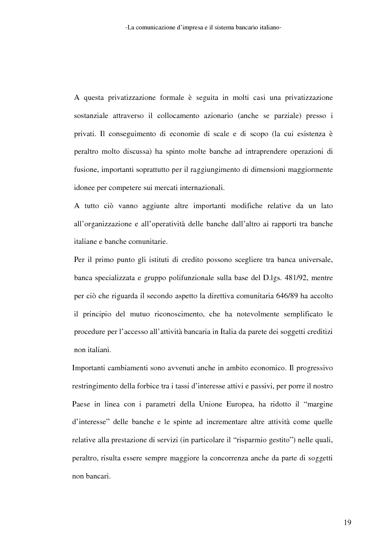 Anteprima della tesi: La banca e la comunicazione pubblicitaria. Caso aziendale: Monte dei Paschi di Siena S.p.a., Pagina 15