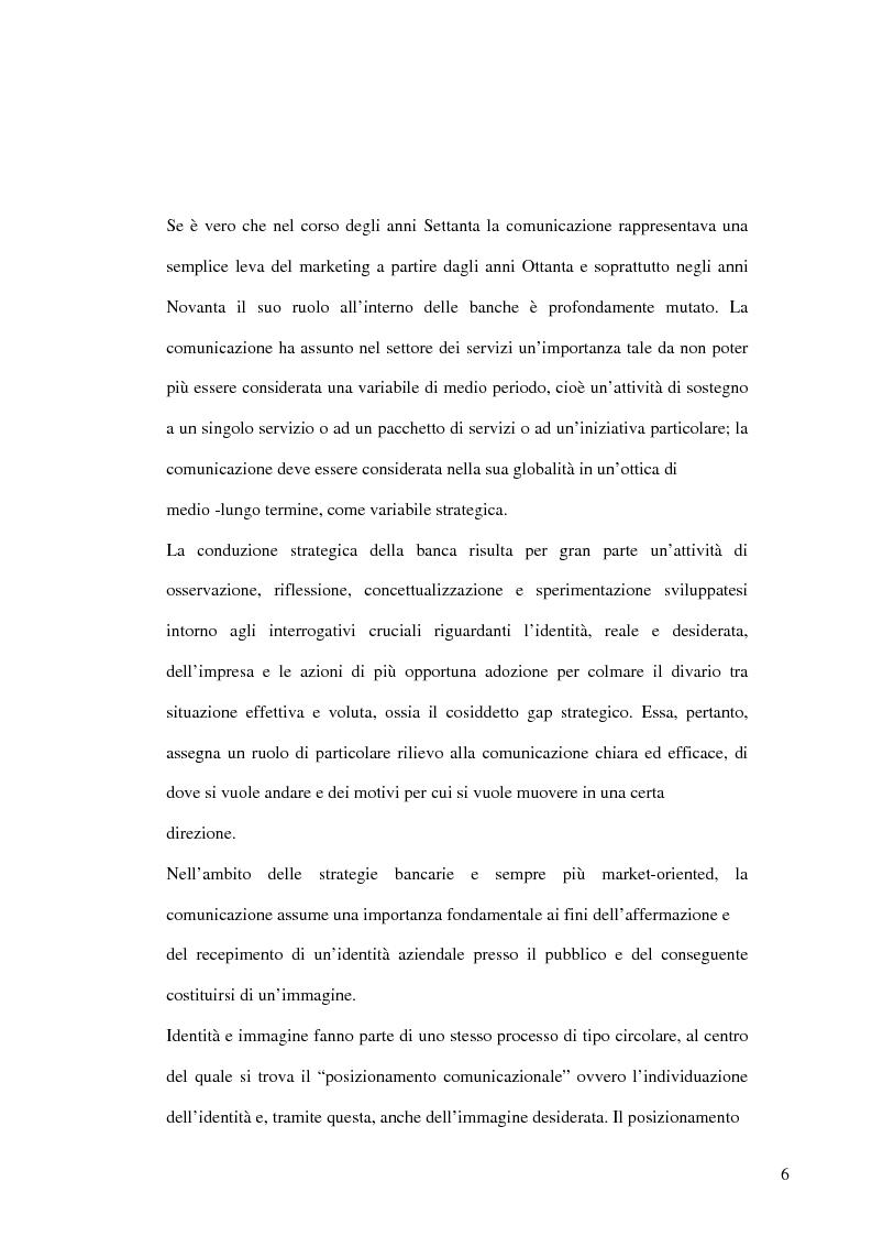 Anteprima della tesi: La banca e la comunicazione pubblicitaria. Caso aziendale: Monte dei Paschi di Siena S.p.a., Pagina 2
