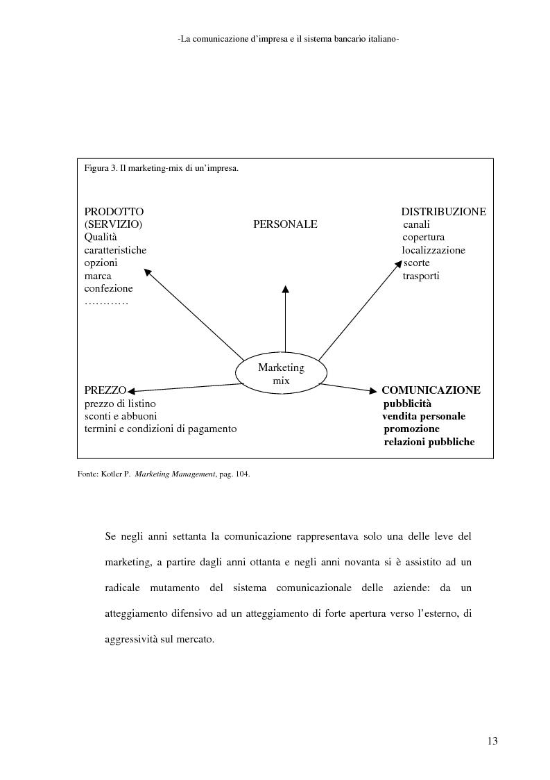 Anteprima della tesi: La banca e la comunicazione pubblicitaria. Caso aziendale: Monte dei Paschi di Siena S.p.a., Pagina 9