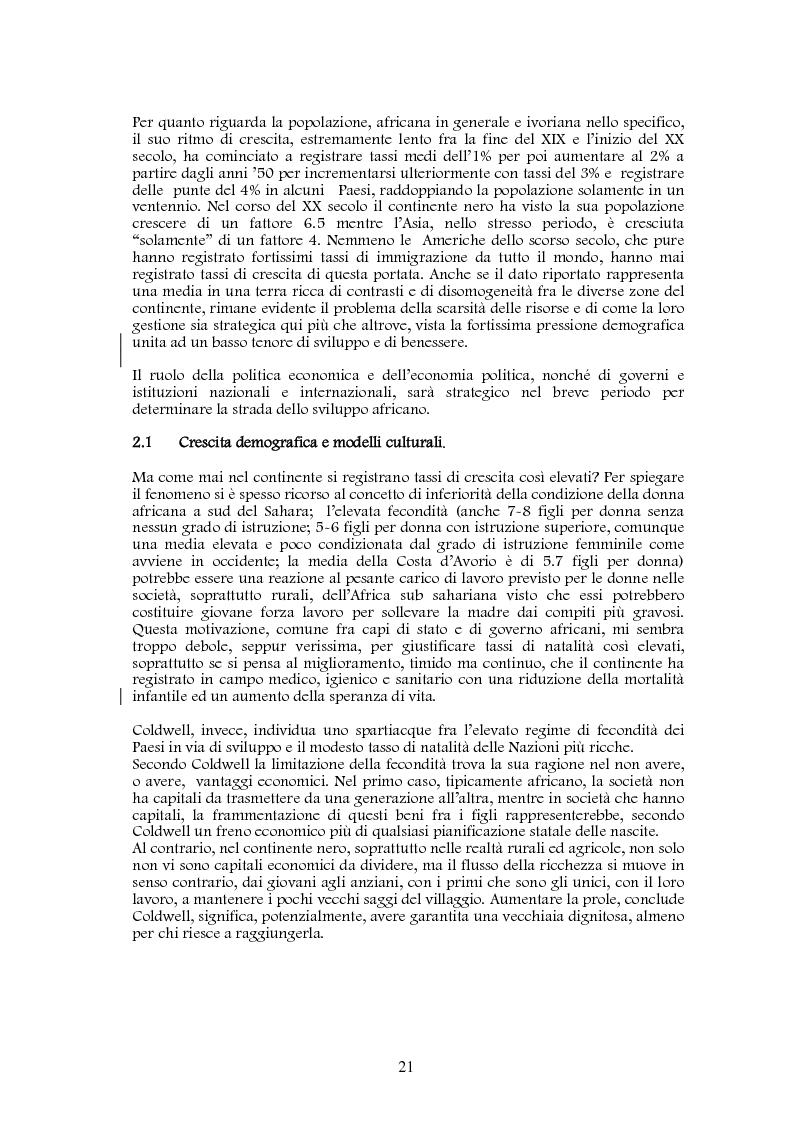 Anteprima della tesi: Studio di realizzazione e fattibilità di un microprogetto di sviluppo agricolo. Il caso di Tabagne, Costa d'Avorio, Pagina 11