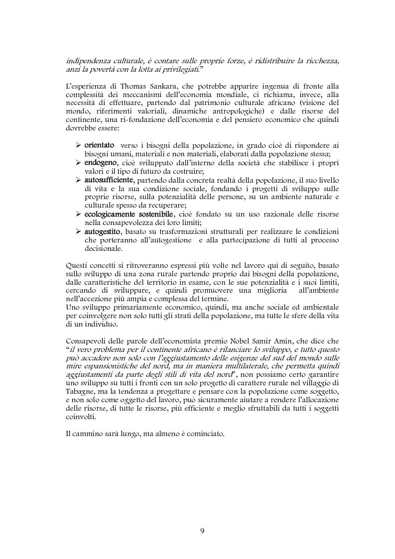 Anteprima della tesi: Studio di realizzazione e fattibilità di un microprogetto di sviluppo agricolo. Il caso di Tabagne, Costa d'Avorio, Pagina 3