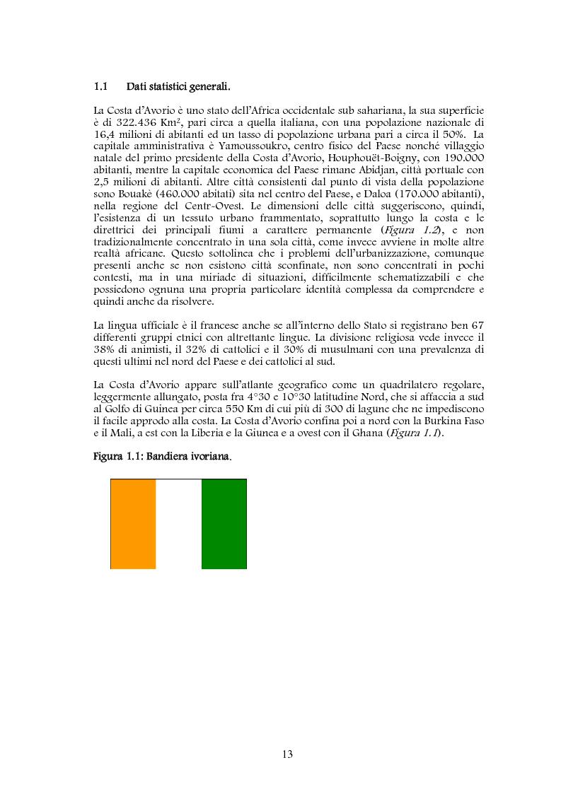 Anteprima della tesi: Studio di realizzazione e fattibilità di un microprogetto di sviluppo agricolo. Il caso di Tabagne, Costa d'Avorio, Pagina 5