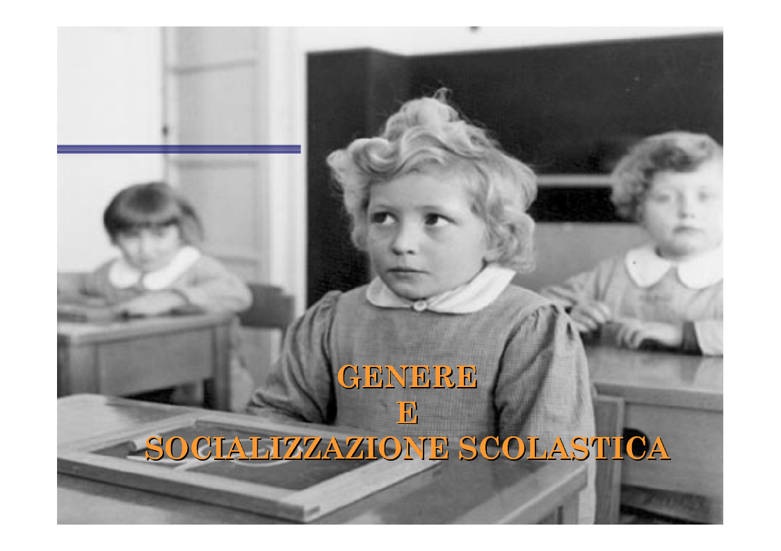 Anteprima della tesi: Genere e socializzazione scolastica. Una ricerca sulla rappresentazione dei modelli sessuali nei libri di testo per la scuola elementare, Pagina 1