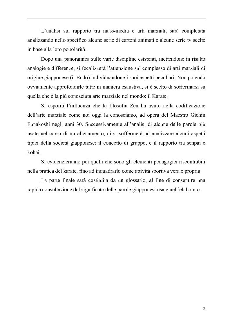 Anteprima della tesi: Il Karate: aspetti sociali, educativi e culturali, Pagina 2