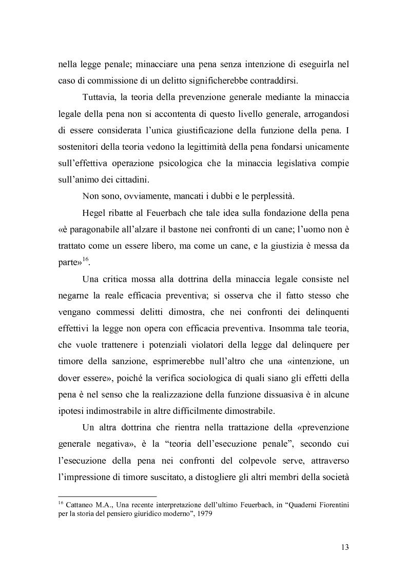 Anteprima della tesi: Il principio di effettività della pena e la sua crisi, Pagina 11