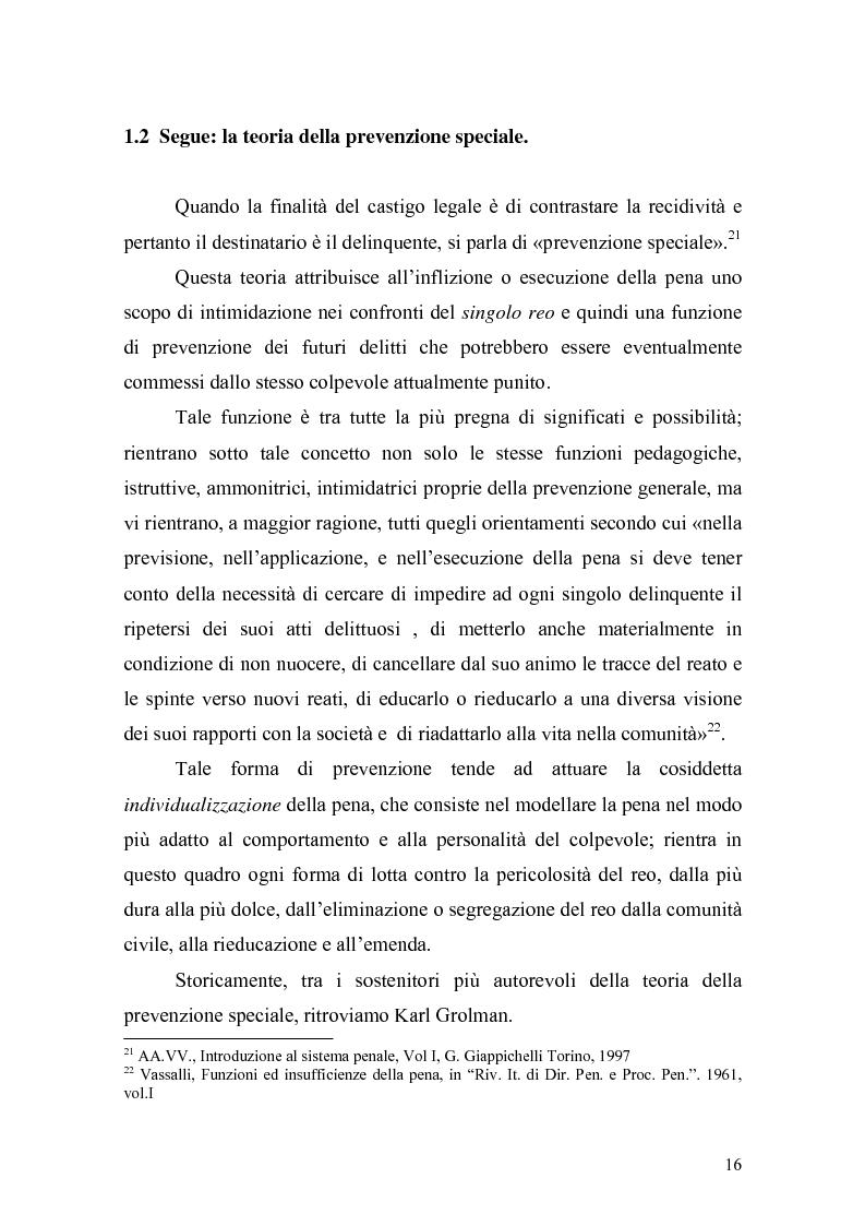 Anteprima della tesi: Il principio di effettività della pena e la sua crisi, Pagina 14