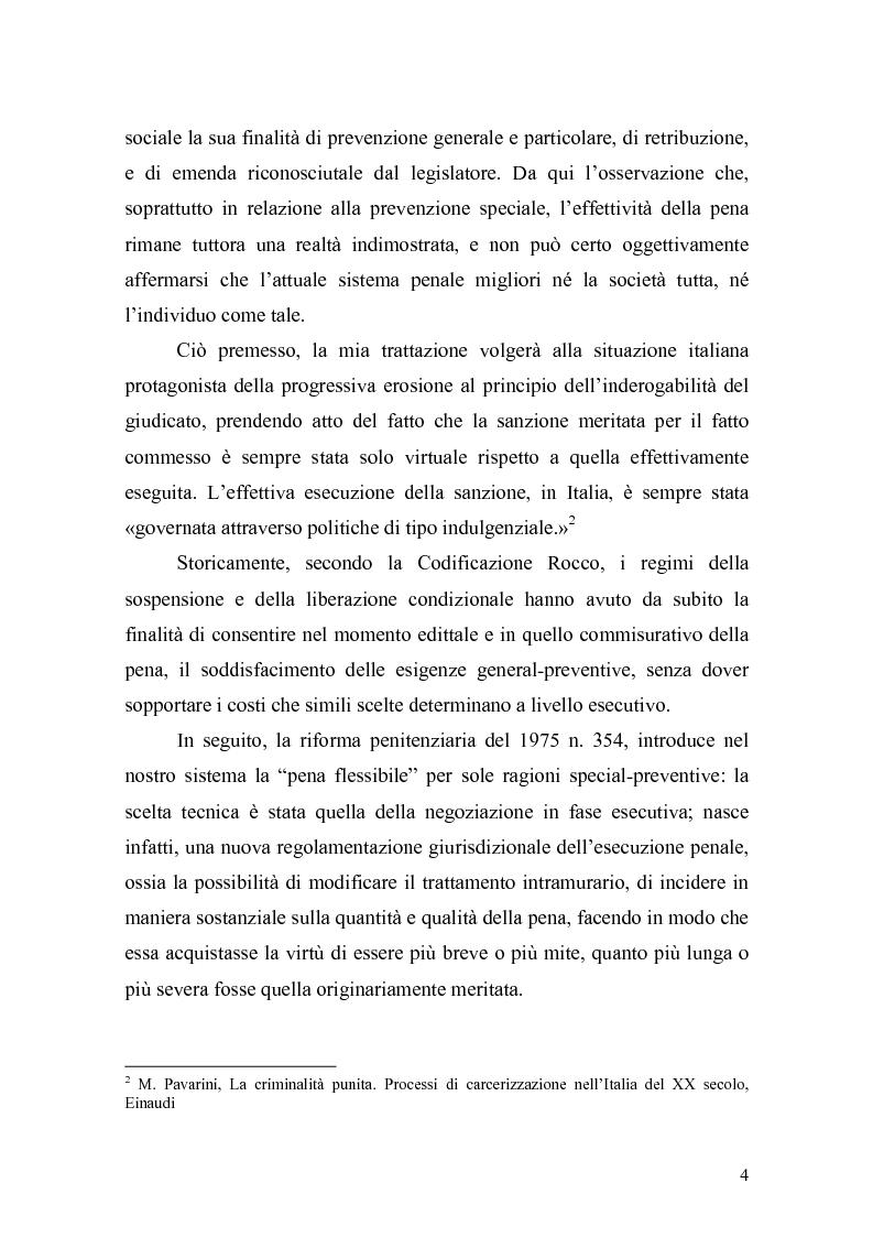 Anteprima della tesi: Il principio di effettività della pena e la sua crisi, Pagina 2
