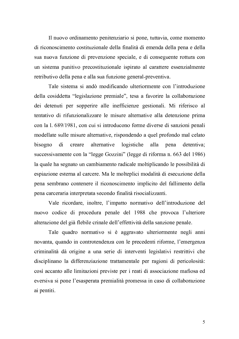 Anteprima della tesi: Il principio di effettività della pena e la sua crisi, Pagina 3