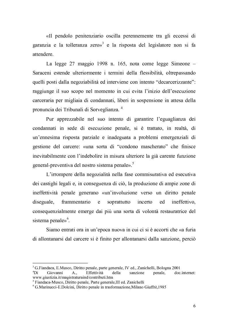 Anteprima della tesi: Il principio di effettività della pena e la sua crisi, Pagina 4