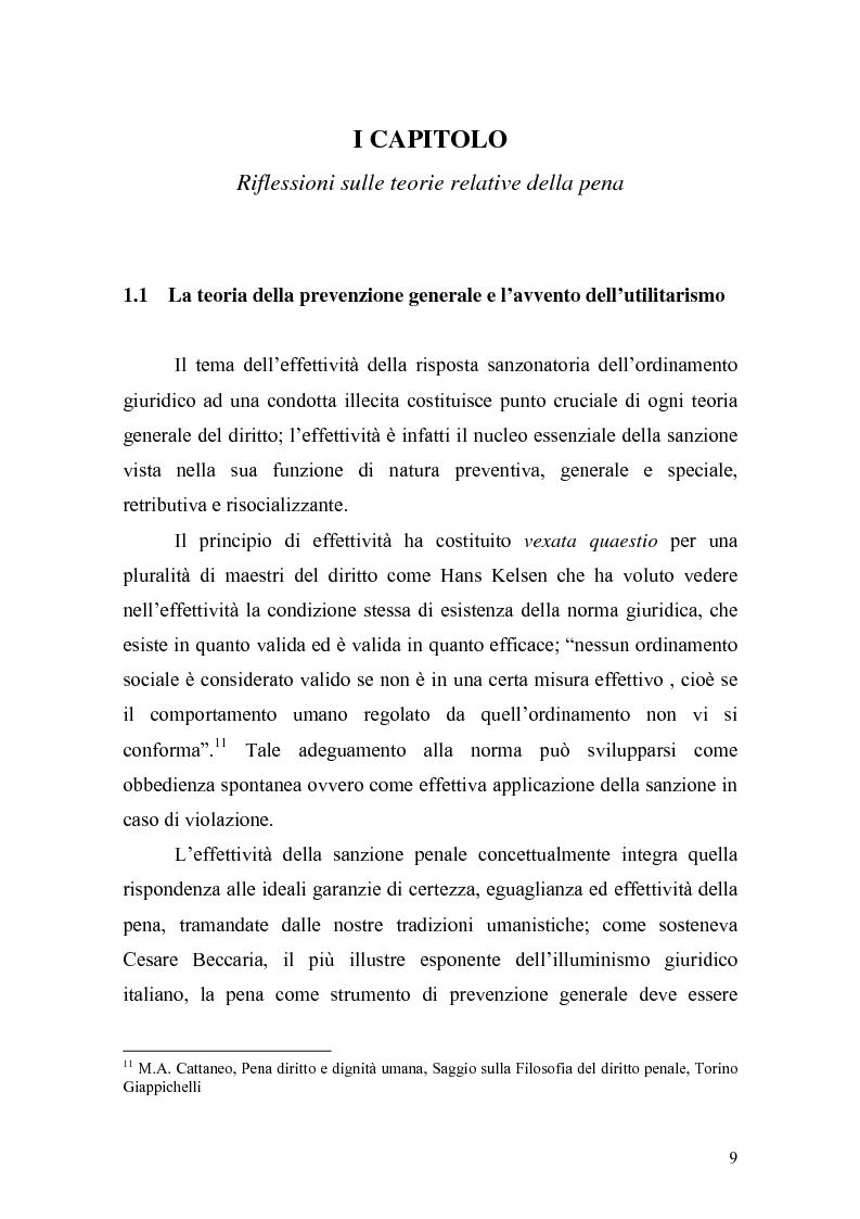 Anteprima della tesi: Il principio di effettività della pena e la sua crisi, Pagina 7