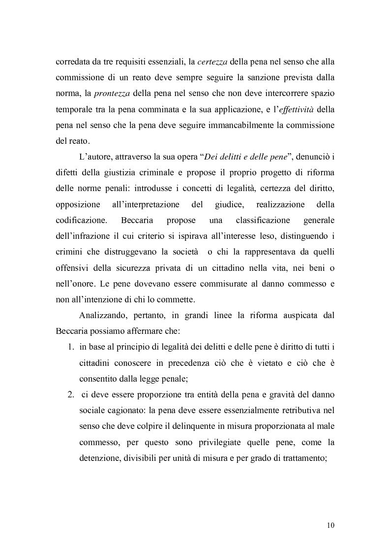 Anteprima della tesi: Il principio di effettività della pena e la sua crisi, Pagina 8