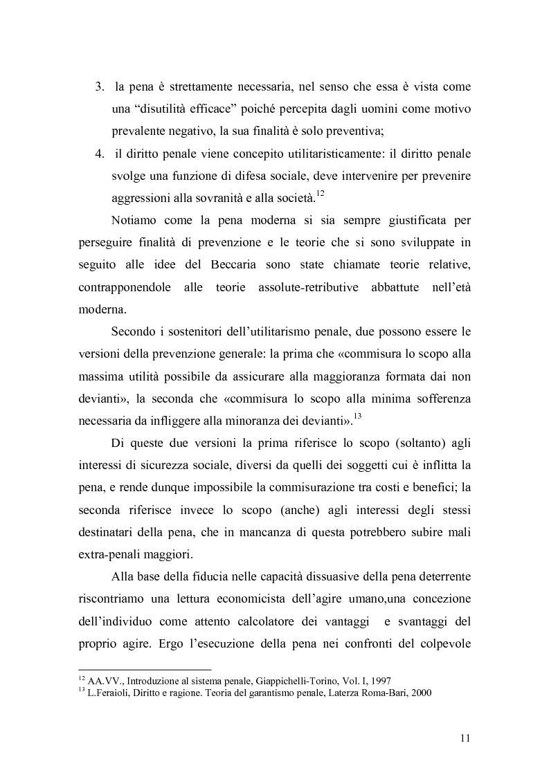 Anteprima della tesi: Il principio di effettività della pena e la sua crisi, Pagina 9