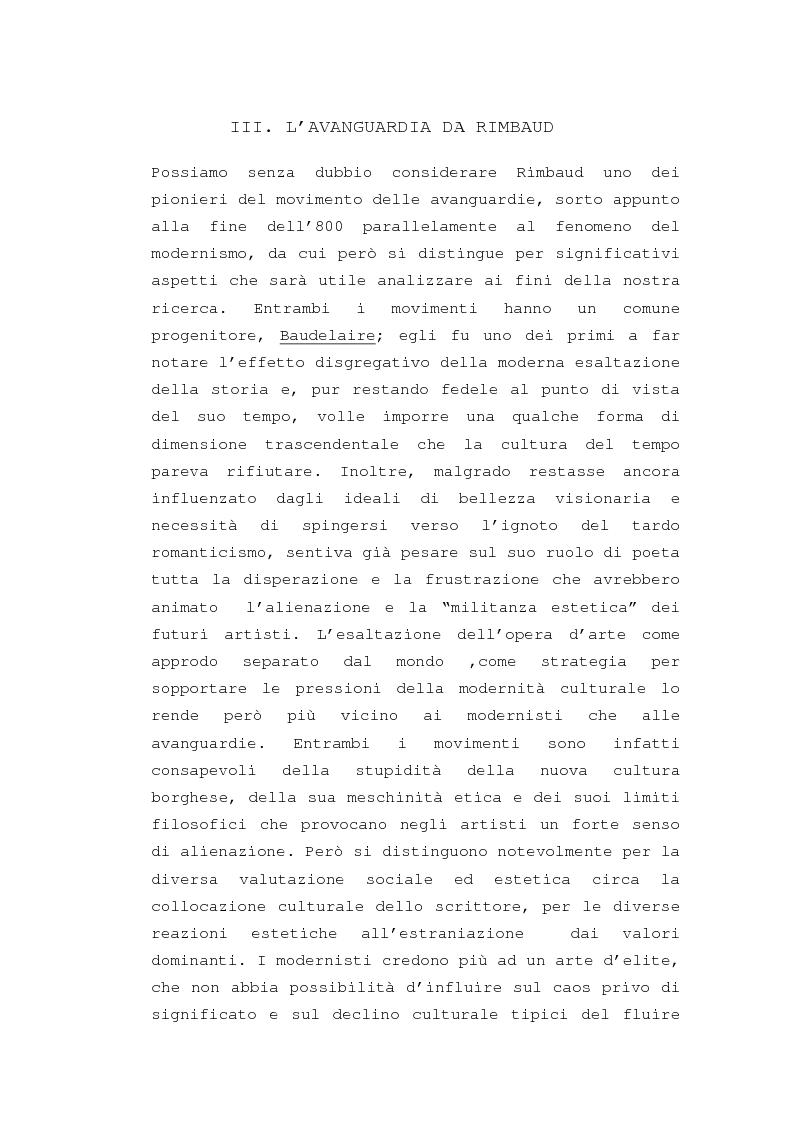 """Anteprima della tesi: Il """"dereglement"""" della simbolizzazione: interpretazione analitica della poesia Le Vocali di Rimbaud, Pagina 11"""