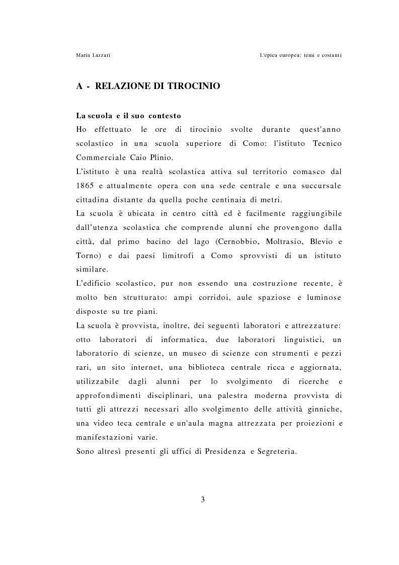 Anteprima della tesi: L'epica europea - Temi e costanti, Pagina 1