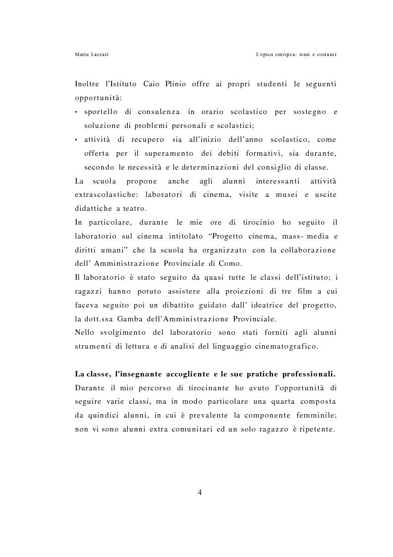 Anteprima della tesi: L'epica europea - Temi e costanti, Pagina 2
