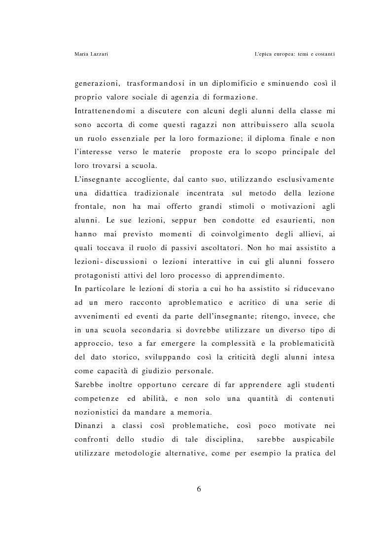 Anteprima della tesi: L'epica europea - Temi e costanti, Pagina 4