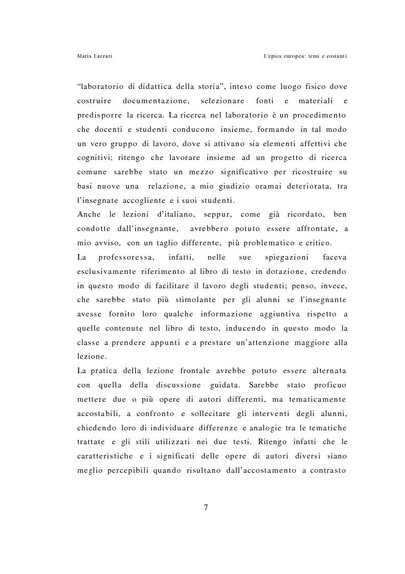 Anteprima della tesi: L'epica europea - Temi e costanti, Pagina 5