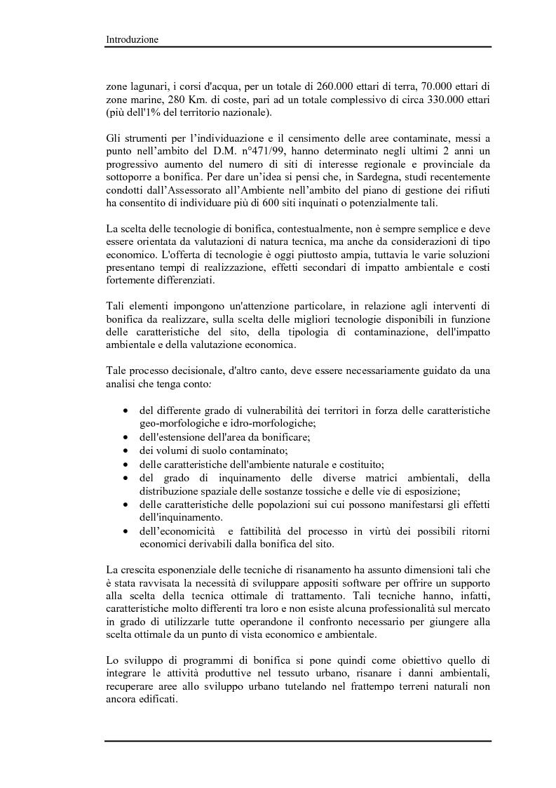 Anteprima della tesi: Bonifica di siti contaminati e trattamento di rifiuti speciali, Pagina 3