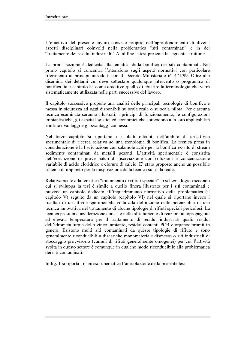 Anteprima della tesi: Bonifica di siti contaminati e trattamento di rifiuti speciali, Pagina 5