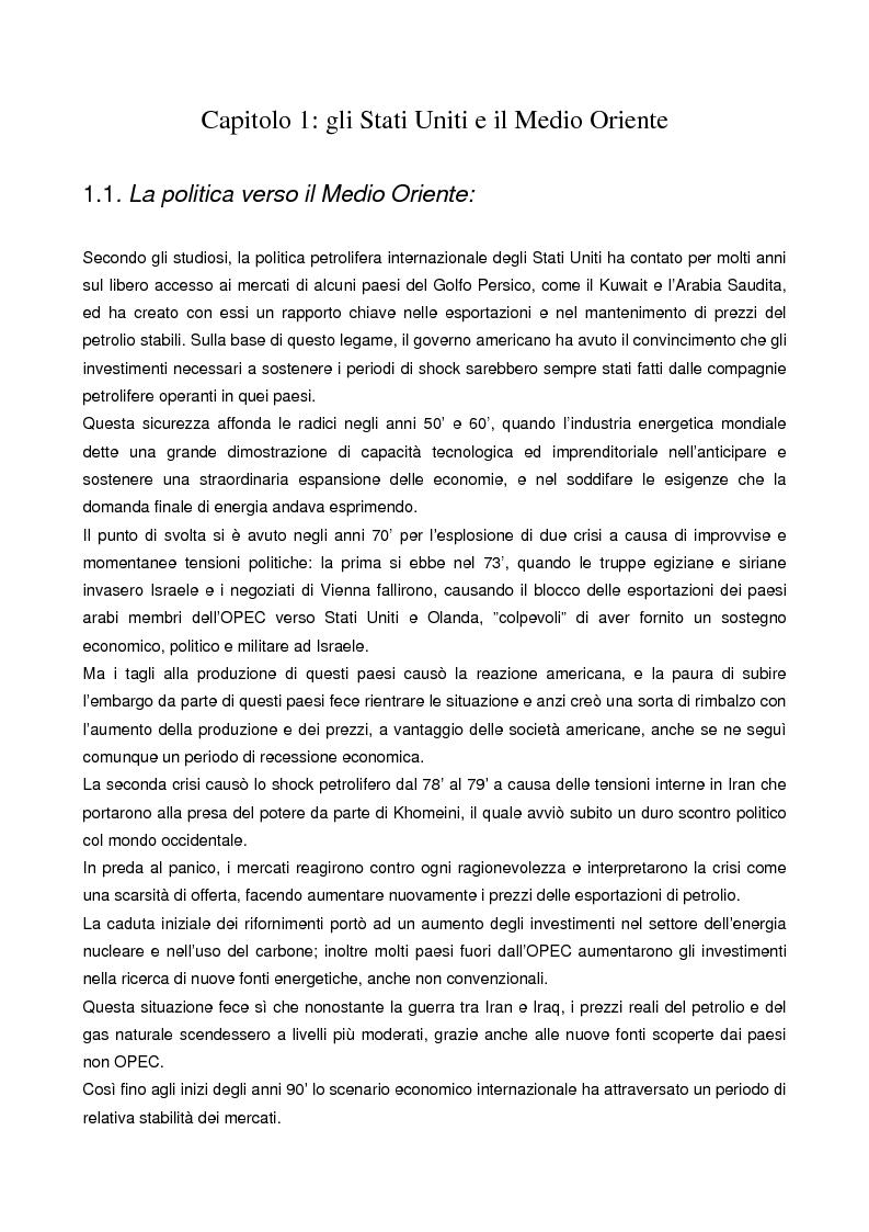 Anteprima della tesi: Le strategie energetiche degli U.S.A.: risorse, innovazioni tecnologiche e prospettive future, Pagina 6