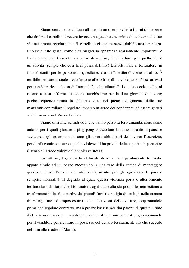 Anteprima della tesi: Realismo cinematografico e documentazione storica. Un caso esemplare: Garage Olimpo, Pagina 10
