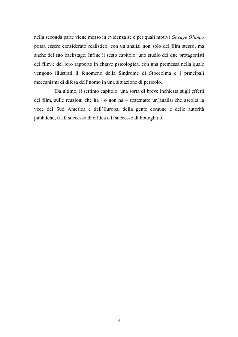 Anteprima della tesi: Realismo cinematografico e documentazione storica. Un caso esemplare: Garage Olimpo, Pagina 2