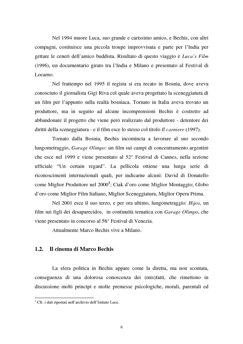 Anteprima della tesi: Realismo cinematografico e documentazione storica. Un caso esemplare: Garage Olimpo, Pagina 4