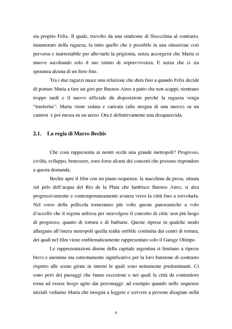 Anteprima della tesi: Realismo cinematografico e documentazione storica. Un caso esemplare: Garage Olimpo, Pagina 7