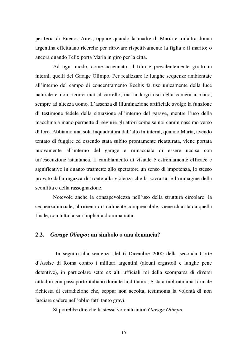 Anteprima della tesi: Realismo cinematografico e documentazione storica. Un caso esemplare: Garage Olimpo, Pagina 8