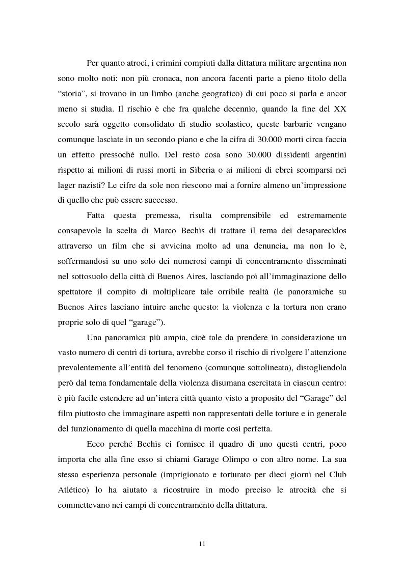 Anteprima della tesi: Realismo cinematografico e documentazione storica. Un caso esemplare: Garage Olimpo, Pagina 9