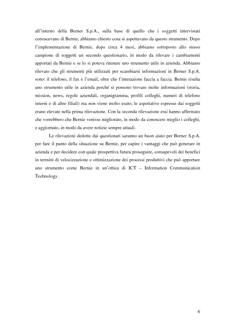 Anteprima della tesi: Nuove tecnologie e comunicazione organizzativa: il caso Bernie., Pagina 3
