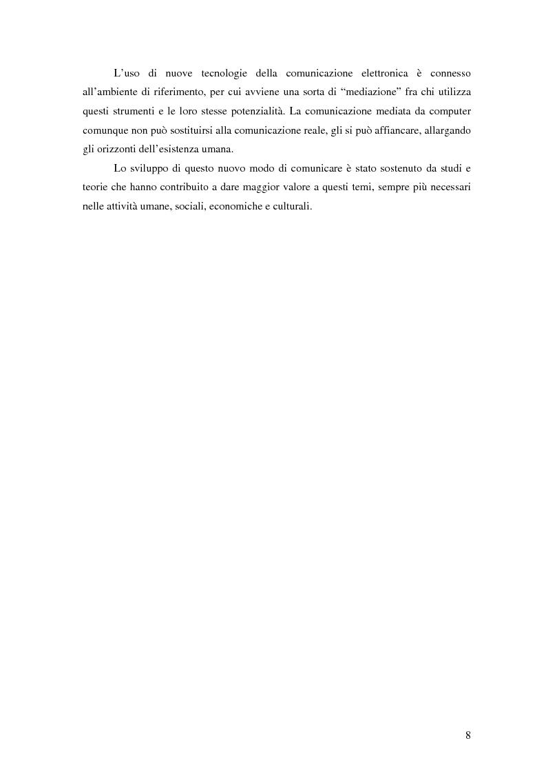 Anteprima della tesi: Nuove tecnologie e comunicazione organizzativa: il caso Bernie., Pagina 5