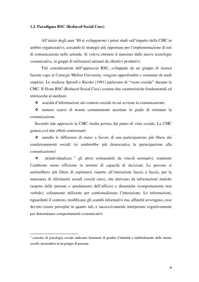 Anteprima della tesi: Nuove tecnologie e comunicazione organizzativa: il caso Bernie., Pagina 6