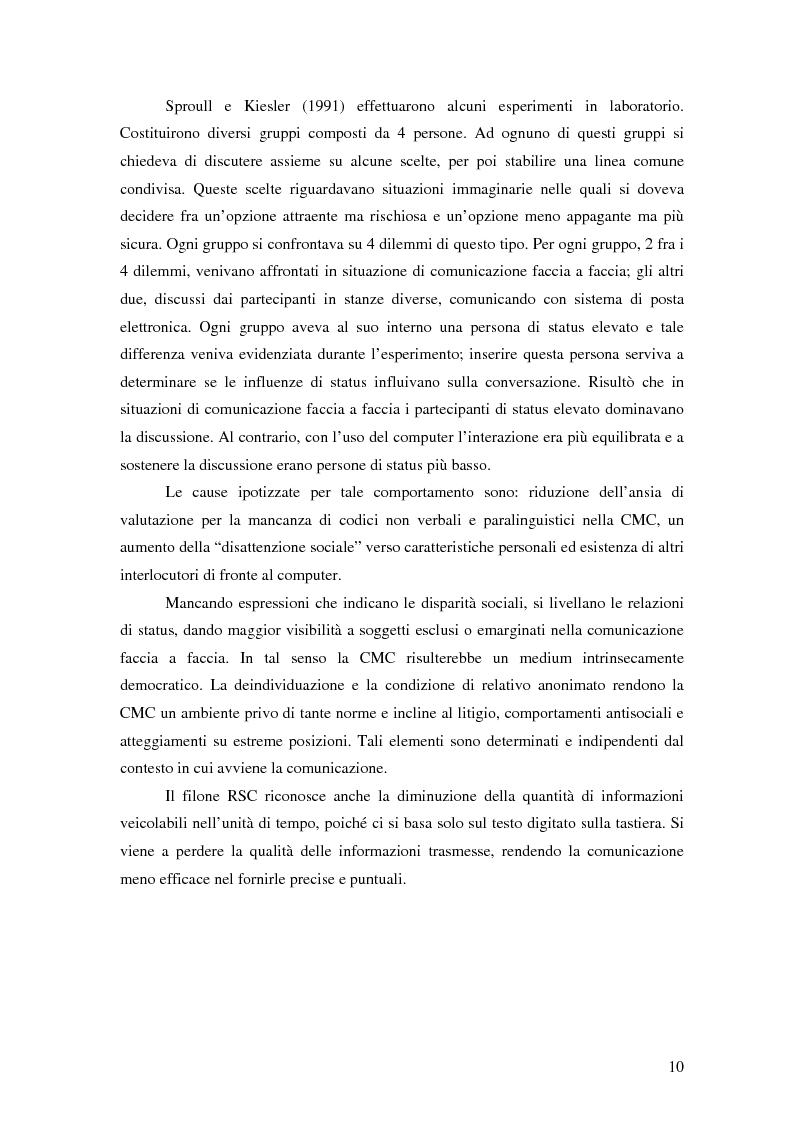 Anteprima della tesi: Nuove tecnologie e comunicazione organizzativa: il caso Bernie., Pagina 7