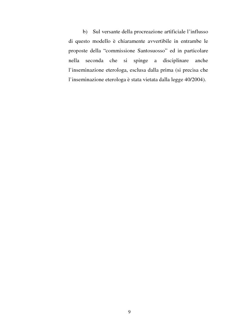 Anteprima della tesi: Adozione e fecondazione artificiale: presupposti e conseguenze del rapporto di filiazione, Pagina 7