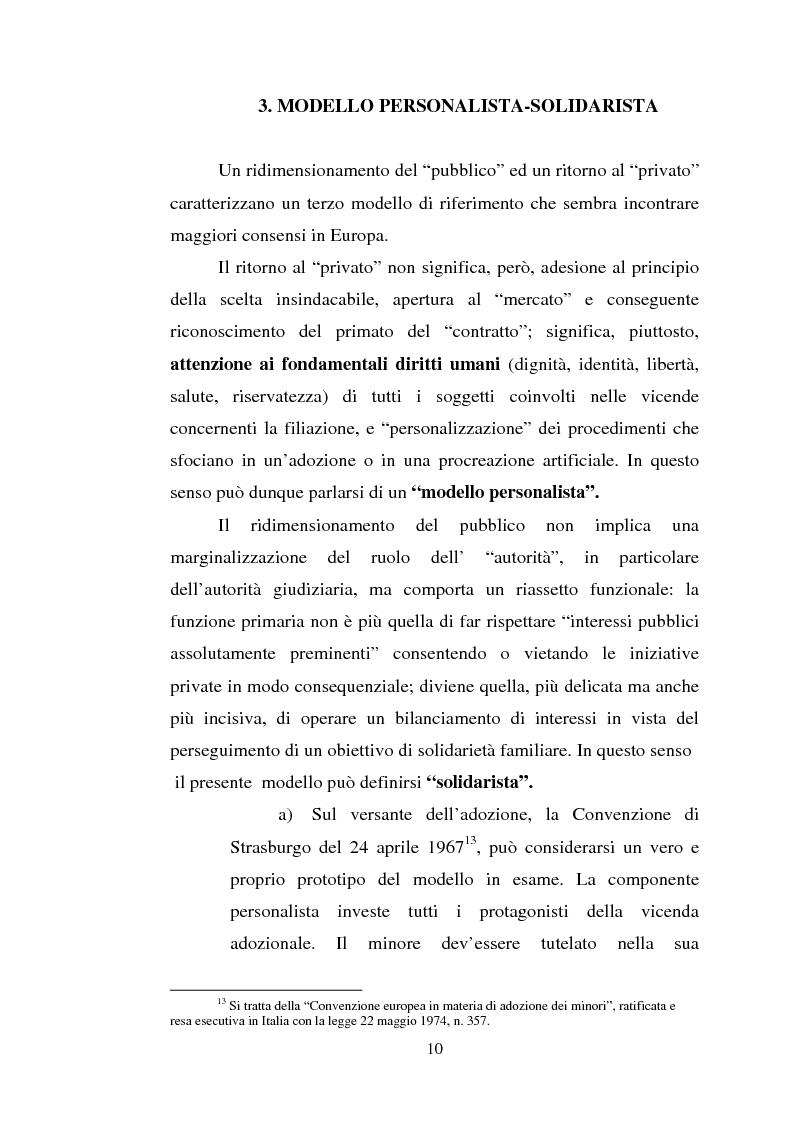 Anteprima della tesi: Adozione e fecondazione artificiale: presupposti e conseguenze del rapporto di filiazione, Pagina 8