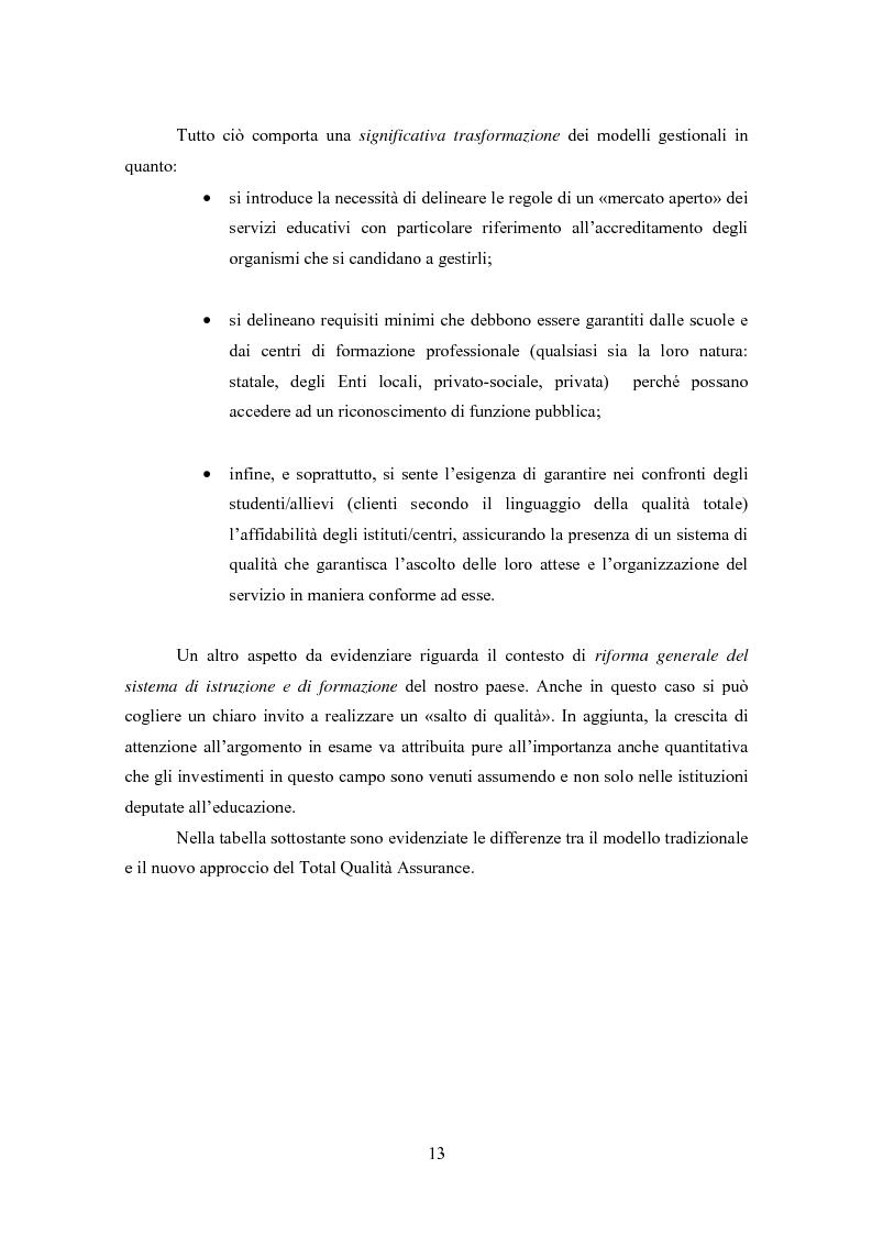 Anteprima della tesi: Gestione della Qualità in ambito scolastico, Pagina 10