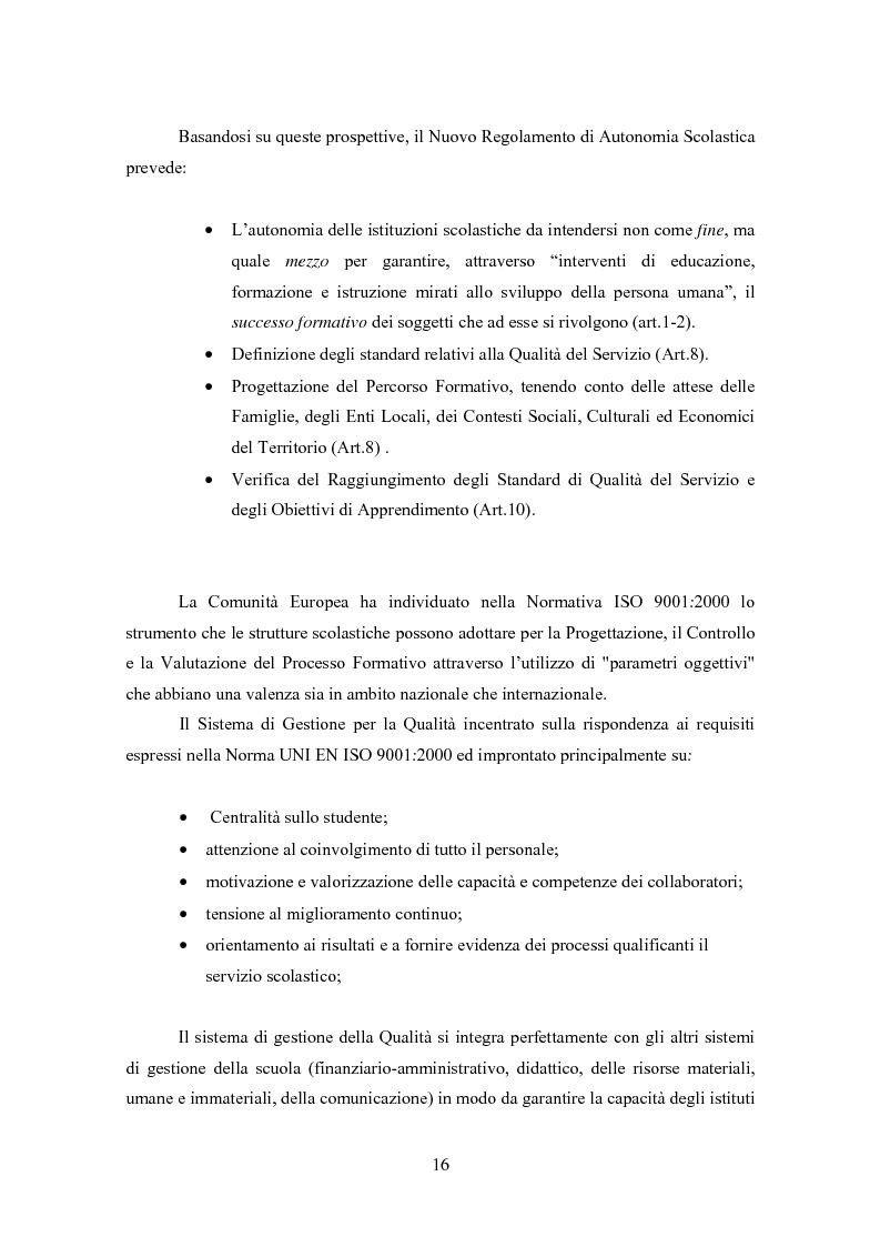 Anteprima della tesi: Gestione della Qualità in ambito scolastico, Pagina 13