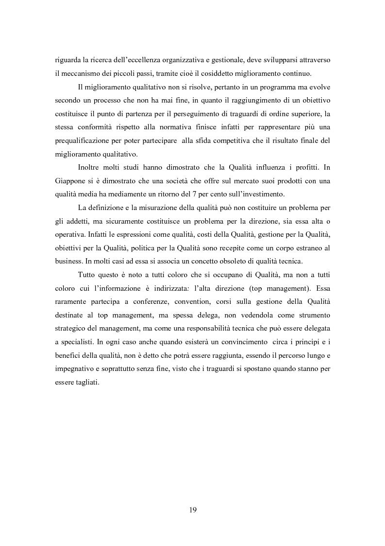 Anteprima della tesi: Gestione della Qualità in ambito scolastico, Pagina 16