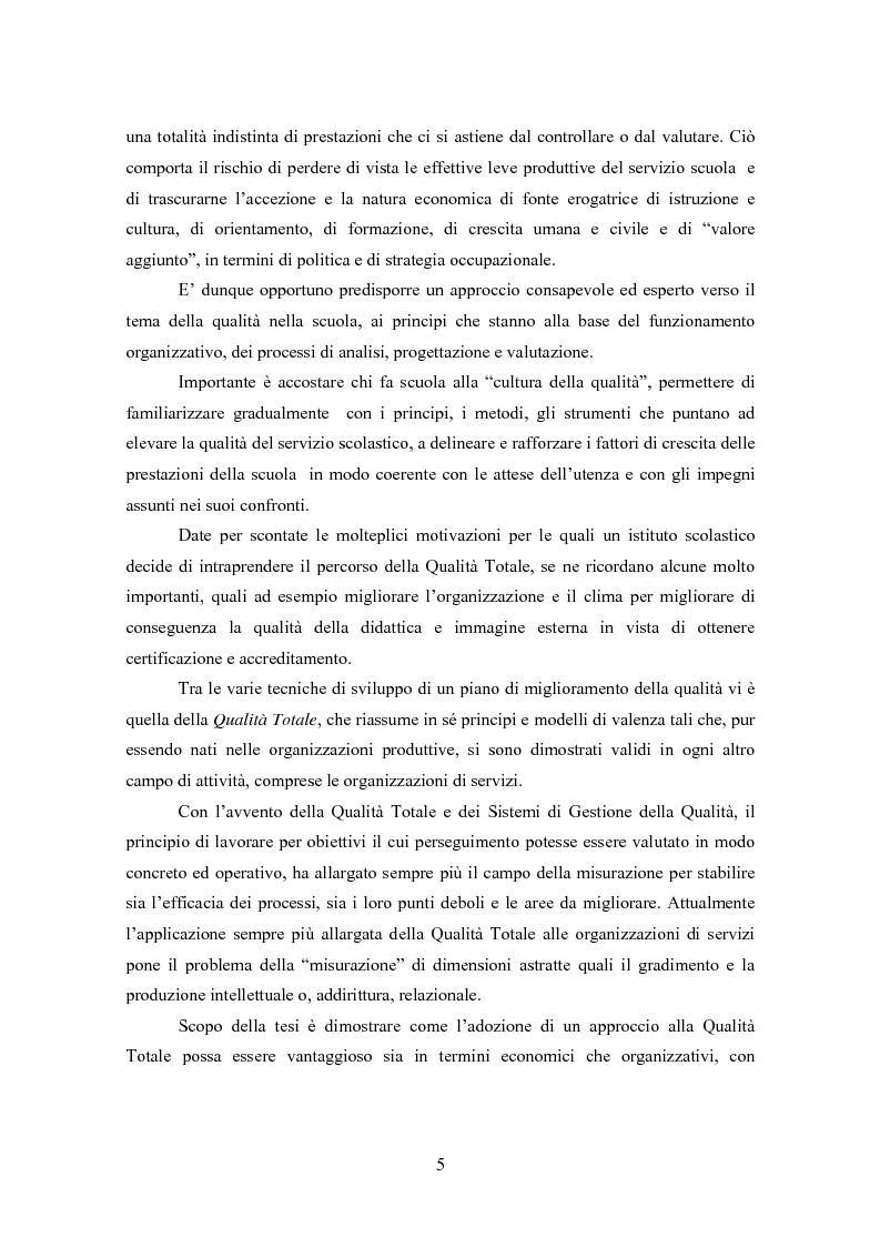 Anteprima della tesi: Gestione della Qualità in ambito scolastico, Pagina 2