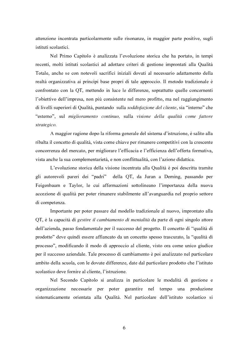 Anteprima della tesi: Gestione della Qualità in ambito scolastico, Pagina 3