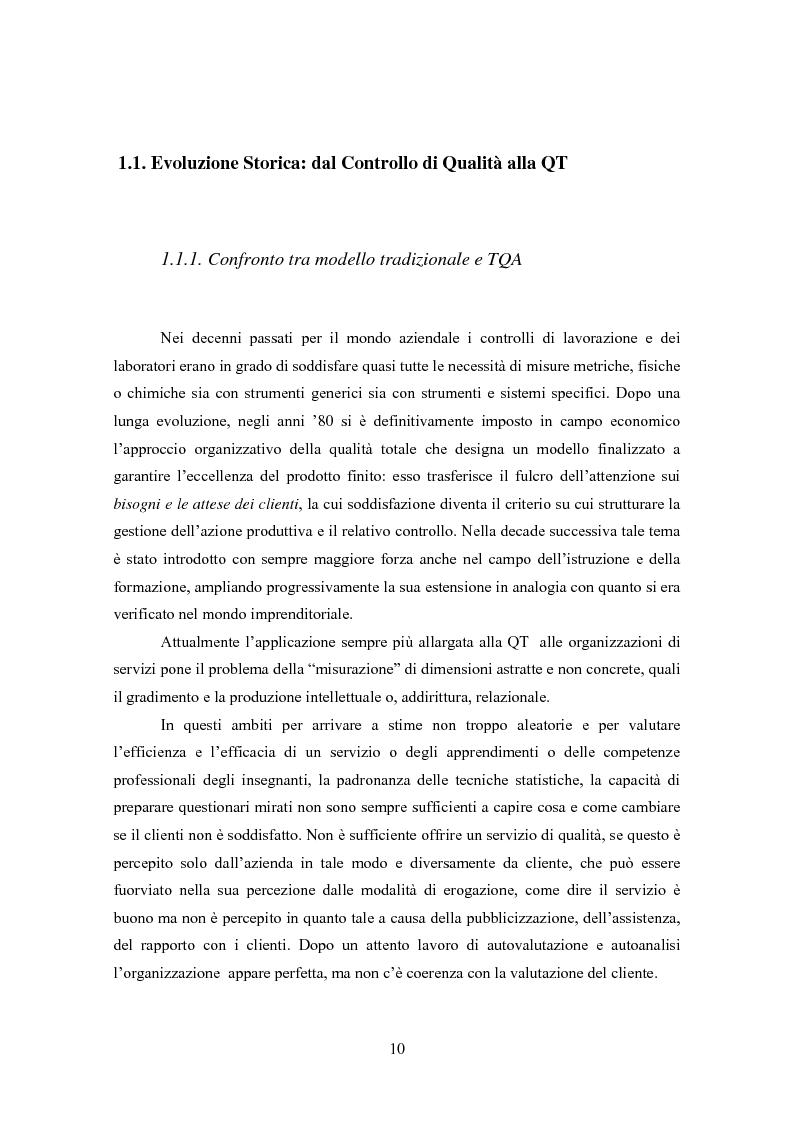 Anteprima della tesi: Gestione della Qualità in ambito scolastico, Pagina 7