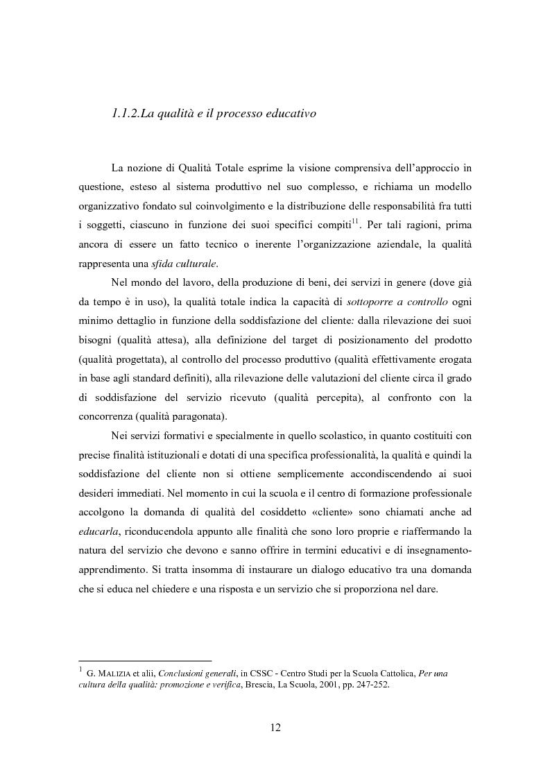 Anteprima della tesi: Gestione della Qualità in ambito scolastico, Pagina 9
